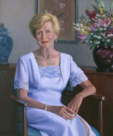 kathleen, family portrait, oil portrait, society portrait, portrait of a woman, informal portrait, contemporary portrait