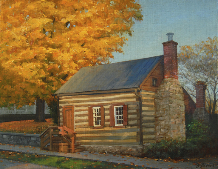 little-cabin, landscape painting, oil painting, Virginia landscape painting, Little Washington VA