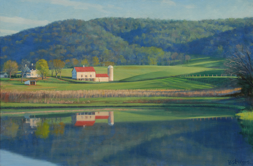 spring farm, landscape painting, oil painting, Virginia landscape painting, Rappahannock virginia landscape painting