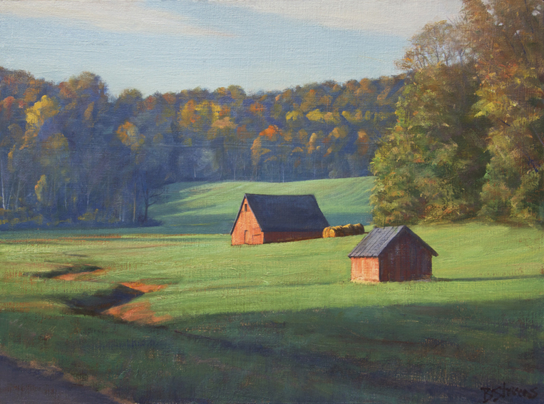 verdant-valley, landscape painting, oil painting, Virginia landscape painting