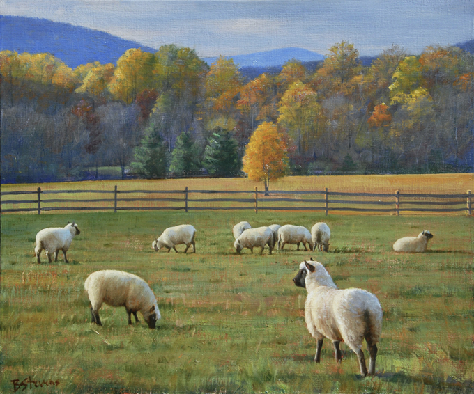 francescas brood, landscape painting, oil painting, Inn at Little Washington landscape painting