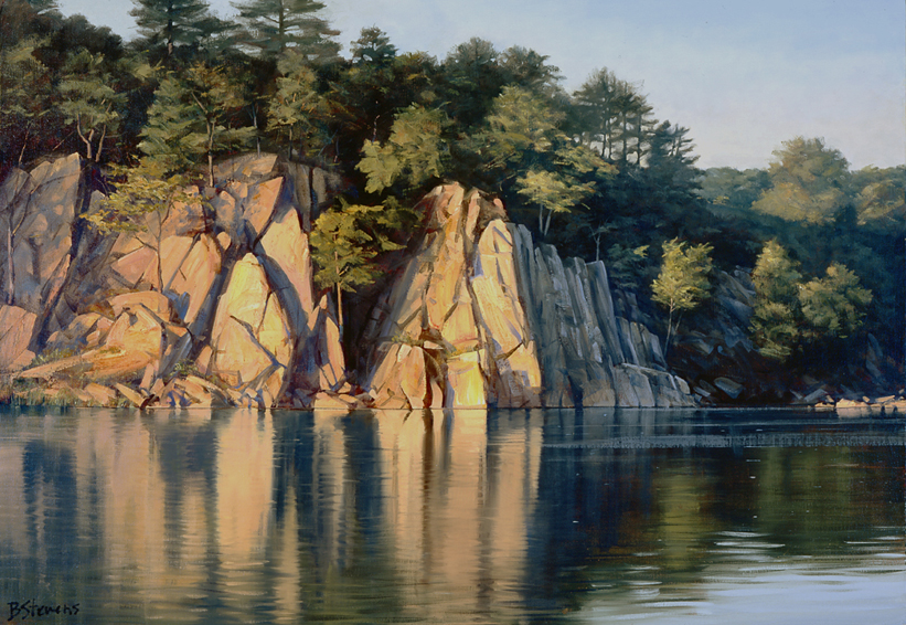 potomac meditation, landscape painting, oil painting, potomac river landscape painting, Potomac River at Great Falls VA painting