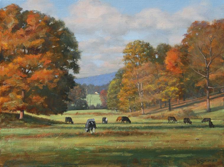 Rappahannock idyll, landscape painting, oil painting, virginia landscape painting, Rappahannock Virginia landscape