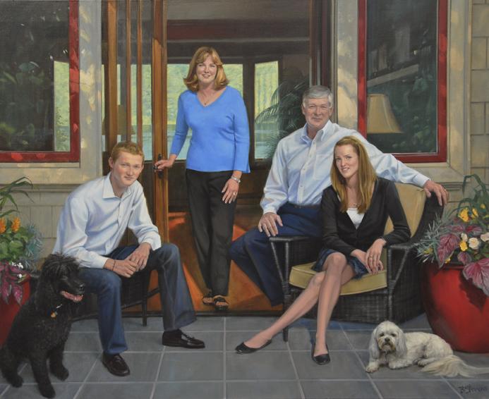 family portrait, children's portrait, oil portrait, informal portrait, seattle, washington
