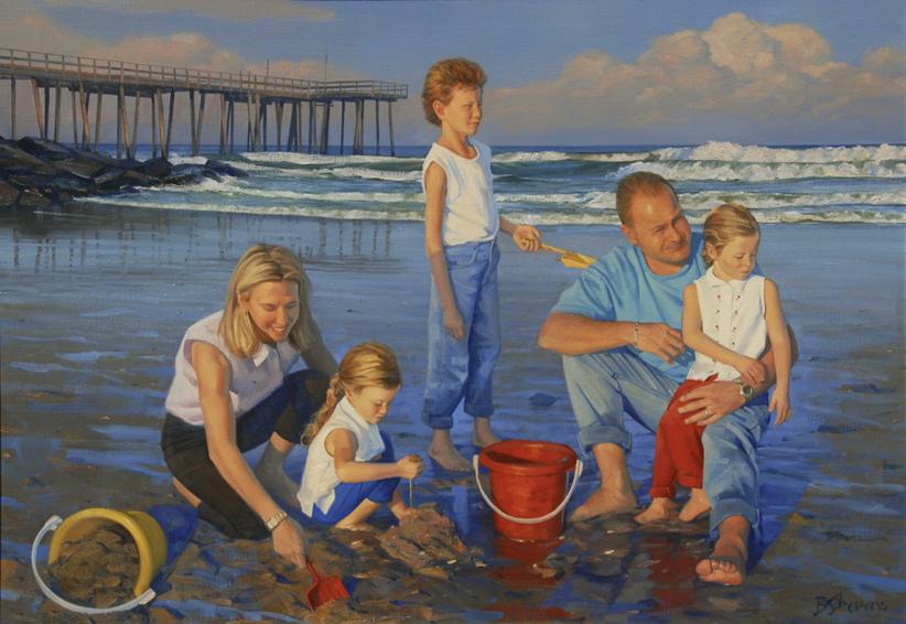 family portrait, children's portrait, oil portrait, environmental portrait, informal, outdoor portrait, bethesda, maryland