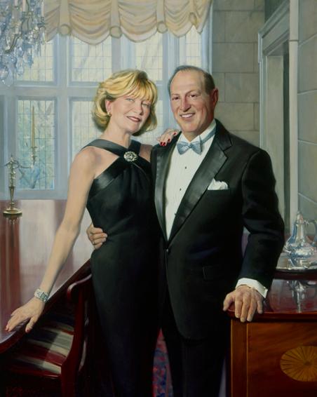 family portrait, couple's portrait, society portrait, oil portrait, middleburg, virginia