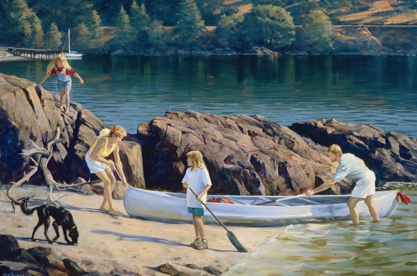 family portrait, children's portrait, oil portrait, environmental portrait, informal, outdoor portrait, mercer island, washington