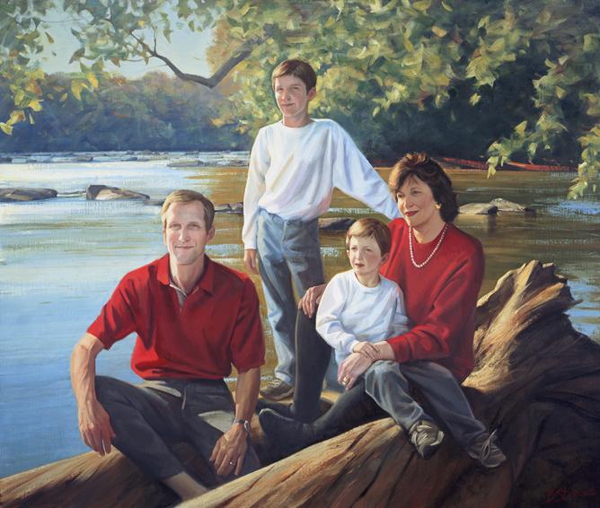 family portrait, children's portrait, oil portrait, environmental portrait, informal portrait, outdoor portrait, bethesda, maryland