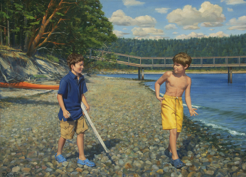 children's portrait, family portrait, oil portrait, environmental portrait, informal portrait, outdoor portrait, bellevue, washington