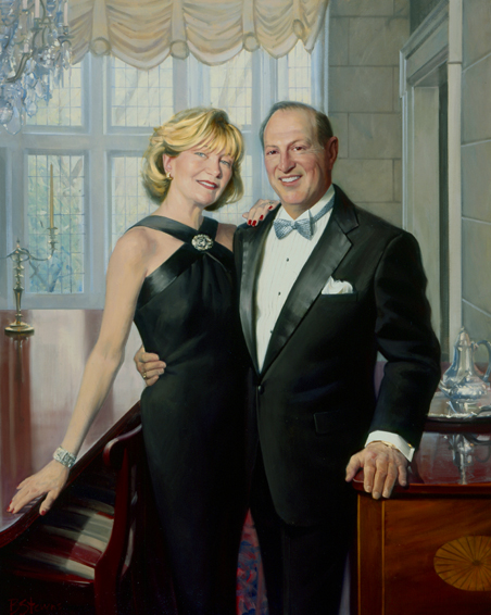 family portrait, couple's portrait, society portrait, oil portrait, middleburg, virginia
