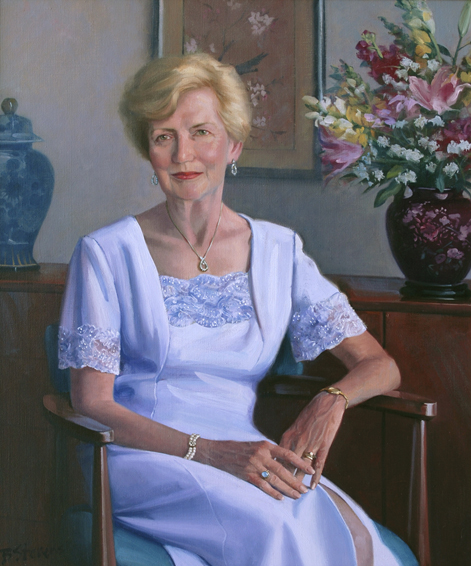 individual portrait, lady's portrait, oil portrait, informal portrait, Bellevue, WAshington