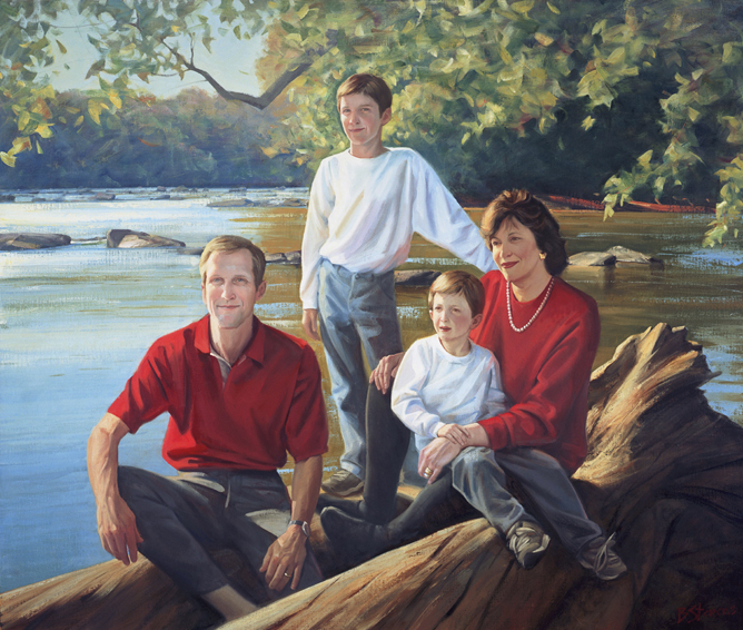 family portrait, children's portrait, oil portrait, environmental portrait, informal portrait, outdoor portrait, bethesda, maryland