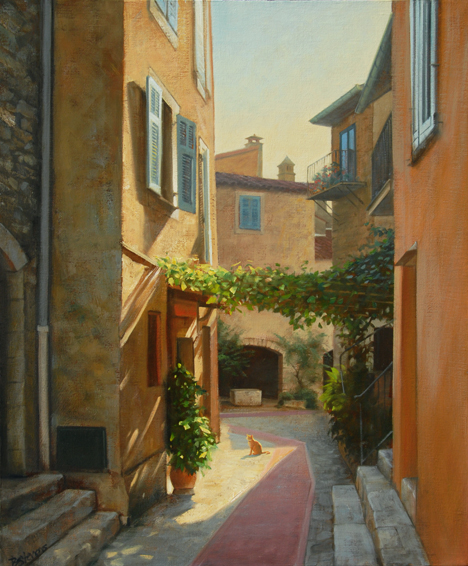 a place in the sun, cityscapes painting, oil painting