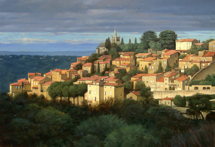bonnieux, cityscapes painting, oil painting