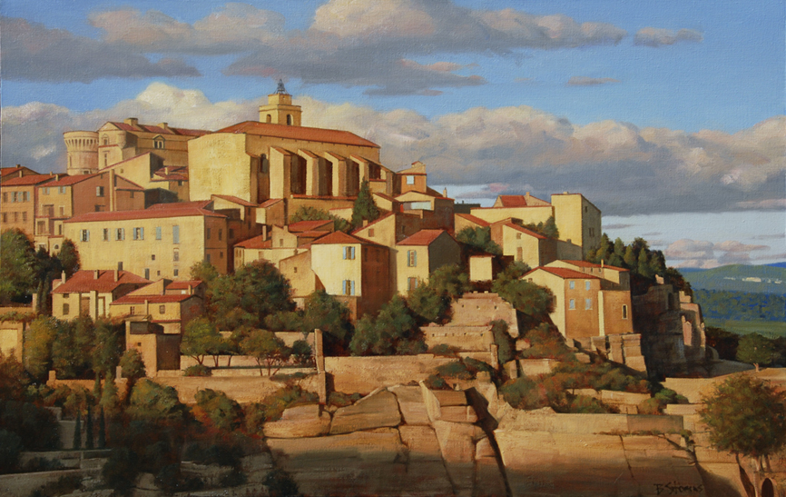 gordes, cityscapes painting, oil painting