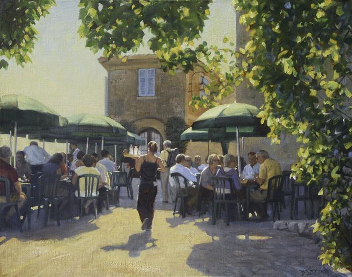 lheure de dejeuner, cityscapes painting, oil painting