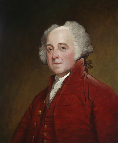john adams, gilbert stuart, historical portrait, oil painting