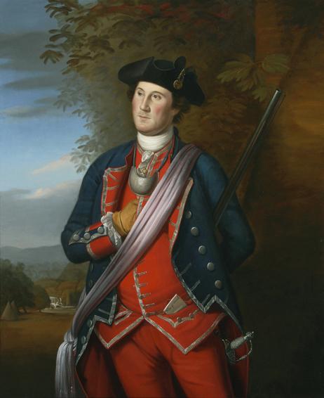george washington, charles wilson peale, historical portrait, oil painting