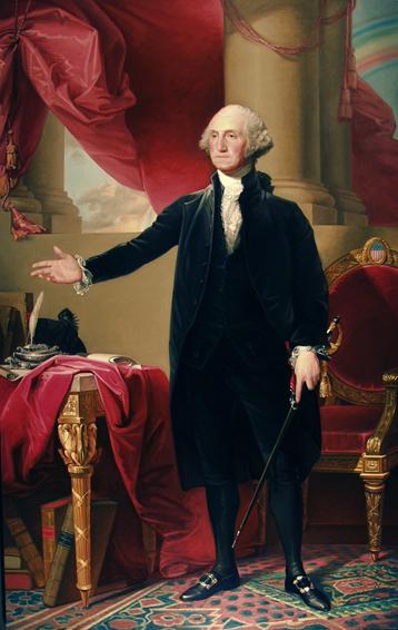 george washington, lansdowne portrait, historical portrait, oil painting, Gilbert Stuart