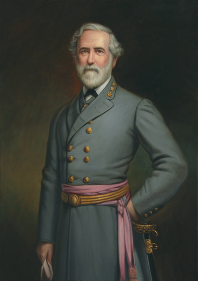 robert e. lee, theodore pine, historical portrait, oil painting