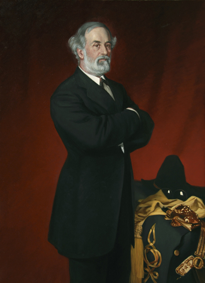 robert e. lee, frank buchser, historical portrait, oil painting