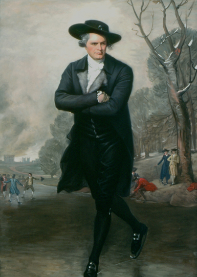 the skater, gilbert stuart, historical portrait, oil painting
