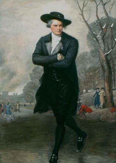 the skater, gilbert stuart, historical portrait, oil painting