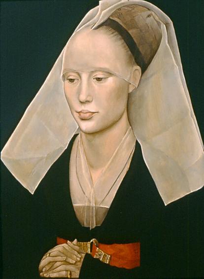 portrait of a lady, rogier van der weyden, historical portrait, oil painting