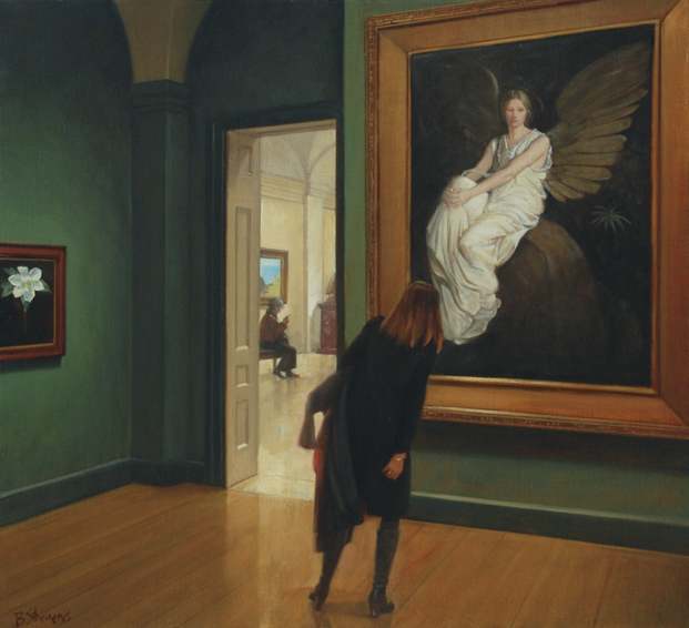 art angels, interior painting, oil painting, museum interior, Smithsonian Museum of American Art, Abbott Handerson Thayer, Stevenson Memorial