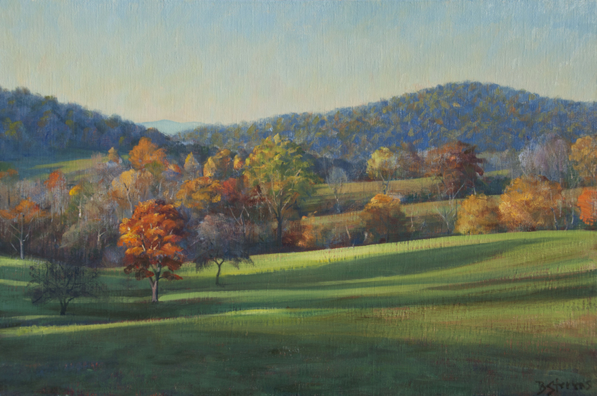 ben-venue, landscape painting, oil painting, Virginia landscape painting, Rappahannock County VA, Ben Venue Farm