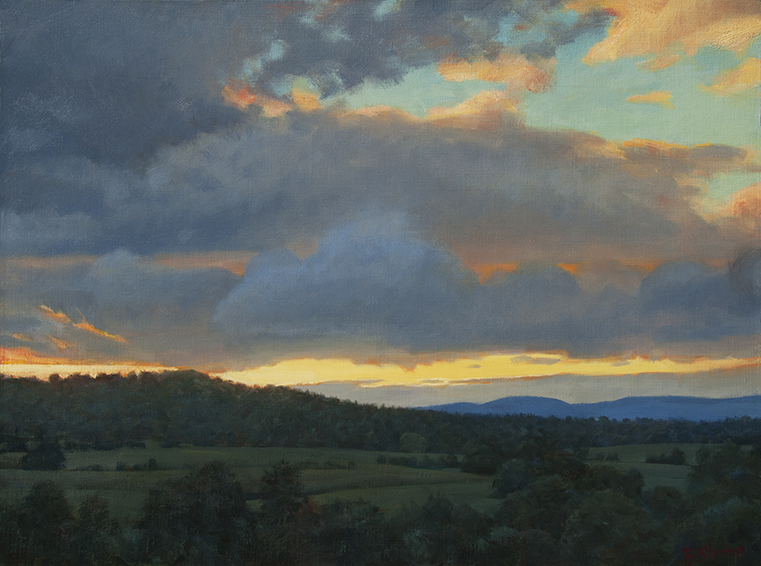 virginia-sky, landscape painting, oil painting, Virginia landscape painting