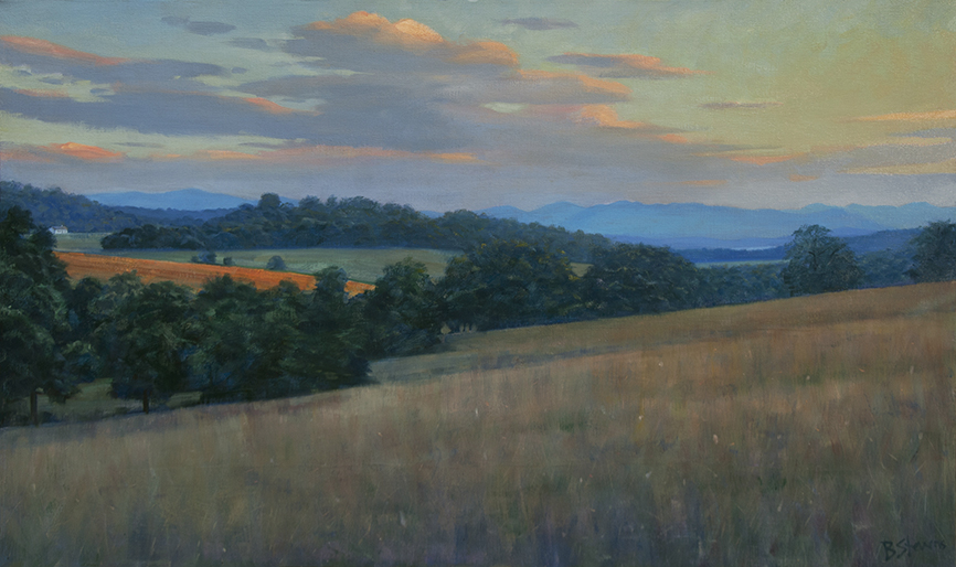 appalachian-sunset, landscape painting, oil painting, Virginia landscape painting