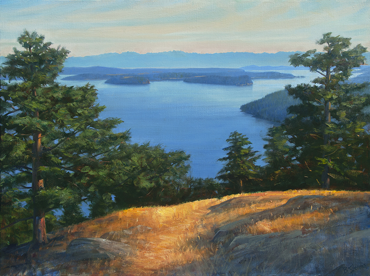 orcas-overlook, landscape painting, oil painting, Pacific Northwest landscape painting, Orcas Island