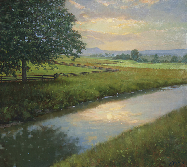 summer-creek, landscape painting, oil painting, Virginia landscape painting