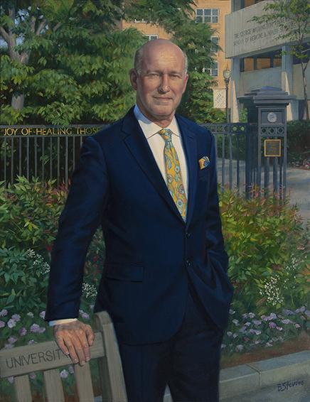Dr. Jeffrey Akman, Dean, The George Washington School of Medicine and Health Sciences, Washington, DC, Medical oil portrait, professional portrait.