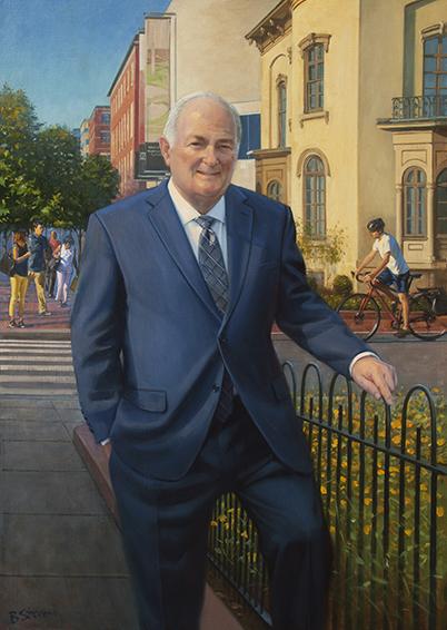 President Steven Knapp, The George Washington University, Washington, DC, oil portrait painting, Educational portrait, University President.