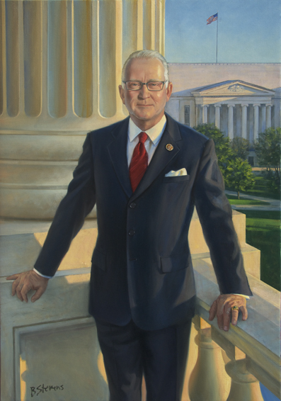 mckeon, buck, howard philip, U.S. congressman, republican, chairman, armed services committee, U.S. house of representatives, oil portrait, state of texas, congressional portrait, portrait of politician, U.S. congressman portrait, portrait of politician