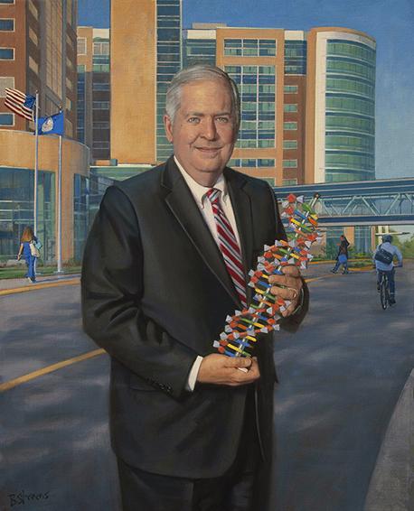 Knox Singleton, Inova Health System, Fairfax, VA, professional oil portrait, Medical field, hospital portrait painting.