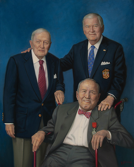 Normandy Institute, Albert Small, Robert Perry and Mortimer Caplin, oil portrait painting, professional portrait, D-Day, World War II.