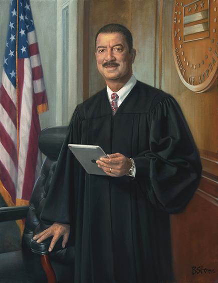 Chief Judge Eric T. Washington, DC Court of Appeals, oil portrait painting, Judicial portraits