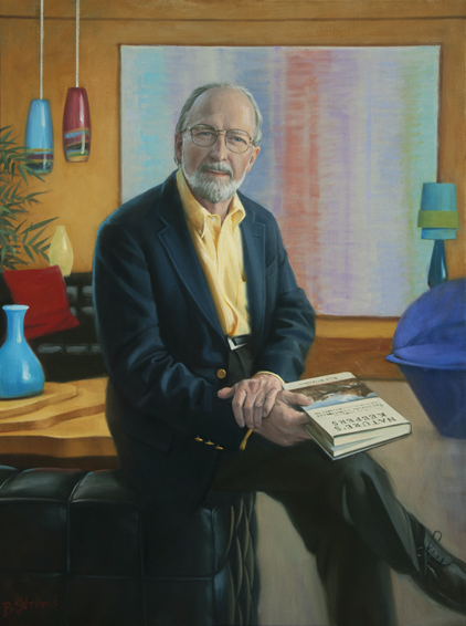 Robert W. Wilson, financier, philanthropist, conservationist, environmentalist, The Nature Conservancy, Arlington, VA, oil portrait, philanthropist portrait