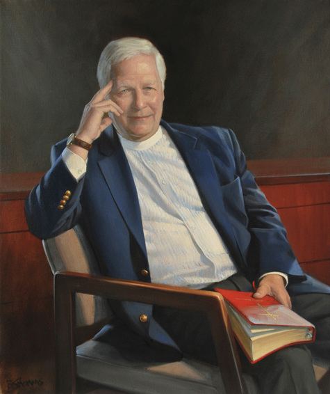 John Branson, reverend, pastor, Christ and Holy Trinity Episcopal Church, oil portrait, portrait of religious clergy, portrait of pastor