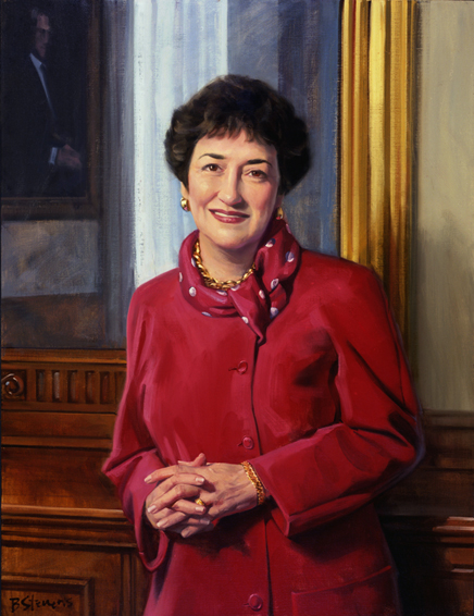 dr. maryann fralic, vice president, nursing, patient care, Johns Hopkins Hospital, oil portrait