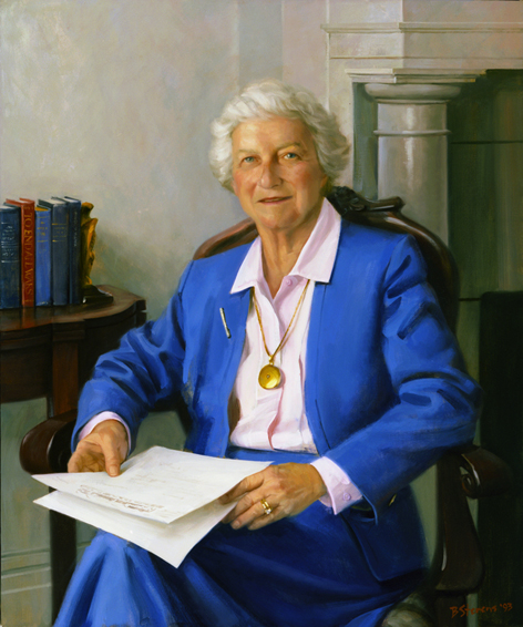 dolores lescure, president, Woodrow Wilson Birthplace Foundation, oil portrait