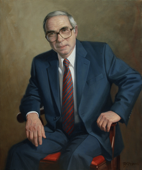 felix rohatyn, investment banker, managing director, Lazard Freres, oil portrait, executive portrait