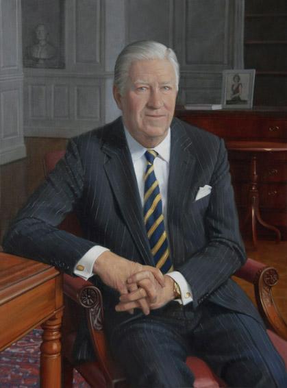 b. francis saul, chairman, CEO, B.F. Saul Company, Chevy Chase Bank, FSB, oil portrait, academic portrait, chairman's portrait