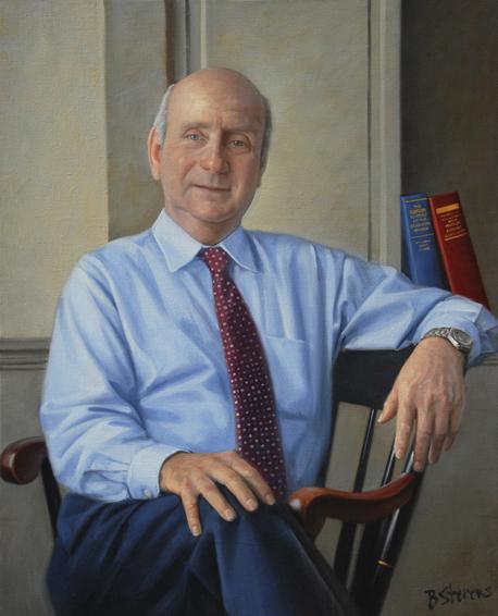 anton vishio, teacher, Gilman School, oil portrait, head of school portrait, academic portrait