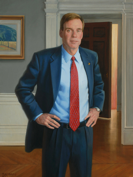mark warner, governor, democrat, Commonwealth of Virginia, oil portrait, governor portrait, Virginia governor portrait, portrait of politician