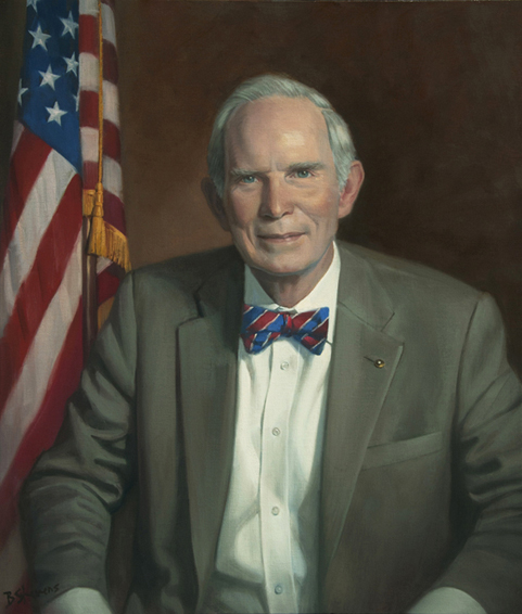 Thomas T. Byrd, president, publisher, The Winchester Star, Winchester, VA, oil portrait, executive portrait