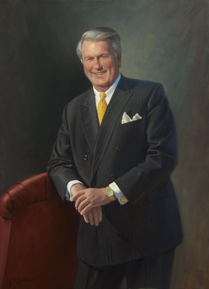 roger jenkins, dean, Farmer School of Business, Miami University, oil portrait, dean's portrait, academic portrait